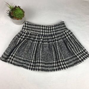 JOA Los Angeles Mini Flannel Skirt Sz L Pleated